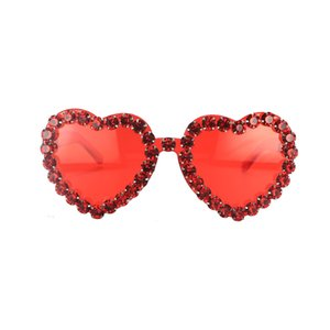 New Arrivals Time-Limited Big Sales Especially Decorative Heart-shaped Sunglasses Pink Lady Hearts Sunglasses Large Frame Transparent G Qiot