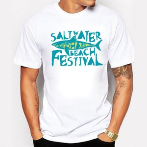 newest fun saltwater beach festival shark printed t shirt summer mens boy novelty cool short sleeve tee tops