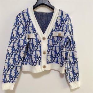 Suéter de las nuevas mujeres de lujo confortable y jersey de gama alta de lujo jersey de punto de lana bordados, chaqueta de punto para mujer de la ropa