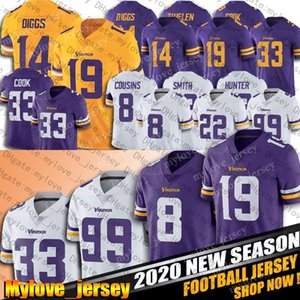 8 Cousins ​​Kirk Dalvin Cook Jersey Adam Thielen Justin Jefferson Jerseys Kyle Rudolp Danielle Hunter Smith Minnesota