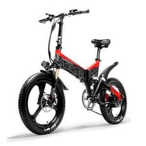 Mountain folding Lancry G650 electric G650 bicycle full suspension 7-speed 400 watt motor 48V 13AH battery light frame