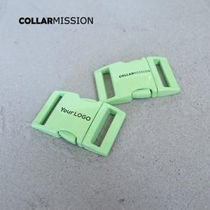 10pcs / lot gravado metal verde fivela 25 milímetros de liberação lateral rápida, nós fornecemos a laser serviço de gravação personaliza LOGO CCK25G