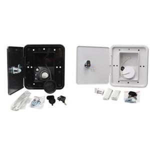 151X166 mm RV Hatch cobrir Acessórios bloqueável Entrada de Água Parts com chaves Praça Threaded Dish Fill para RV Trailer