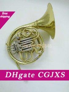 Двухрядный 4 Key валторна B Для F Tune музыкального инструмента валторны с футляром Золотого лаком Поверхность Horn может настроить логотип