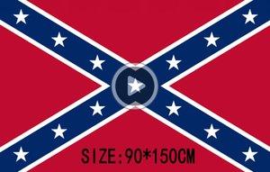 Confederate Reel Bürgerkrieg Flagge der Konföderierten Flagge der Konföderierten attle Flaggen Zwei Seiten gedruckt Flagge Staat Polyester Flagge 90x150cm Patricia
