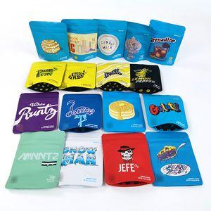 Cheiro doce biscoitos runty etc Pequenas Zipper Hemp Plastic Bags prova com 3,5 g / 7 g / £ 1 e aceito customize