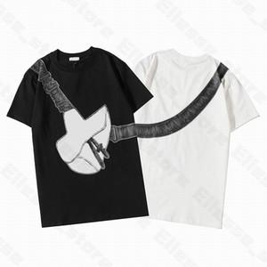 20ss Bolsa de sillín Impreso diseñador para mujer para hombre T Shirts Hombre de la manera camiseta de algodón de calidad superior Luxe ocasional de la manga corta camisetas Tees