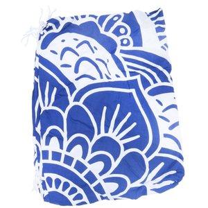 Mandala Круглого Roundie Бич Throw Одеяло кисточка Крупногабаритный Yoga Mat