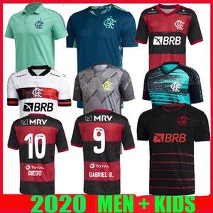 2020 flamengo troisième maillots de football à l'extérieur 2021 chemisettes de Fútbol Flamenco Gabriel B. DIEGO 20 21 shirt de football gardien Rafinha Gerson