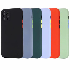 Caso líquido suave de la manera TPU para Iphone 12 2020 11 Pro XS MaX XR X XS 8 Plus Phone 7 6 6S Gel Cojín microfibra ultra-delgada cubierta trasera