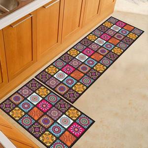 Estera de la cocina más barato antideslizante moderna Alfombras Sala de estar Balcón Baño Impreso alfombra Felpudo Pasillo geométrico de baño de la estera