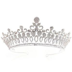 Барокко Люкс Кристалл Headdress Корона Пром воды Дрель Пряжа головная повязка Свадебные аксессуары для волос