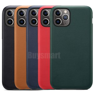 Custodia ufficiale originale per Apple iPhone 11 Pro Max XS XR X 8 7 6 6S Plus 5 5S Cover con retro OEM LOGO Custodie per telefoni in pelle PU opaca satinata