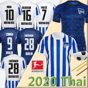20 21 Hertha BSC Fussball Jersey Piatek 2020 2021 Darida Cunha Football Hemd Dilrosun Berlin Hertha Lukebakio Duda Fußball-Trikot