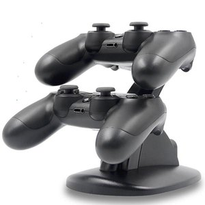 Cgjxsusb Charging Led Dual Charger Dock Mount Stand For Playstation Ps4 Xbox One Gaming Wireless Bluetooth Controller With Retail Box