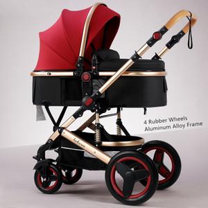 Kinderwagen # BELECOO Lightweight Luxus-Kinderwagen-Kinderwagen 3 in 1 tragbarer hoher Landschaft umkehrbarer Mom Rosa Rosa-Reise-Pram