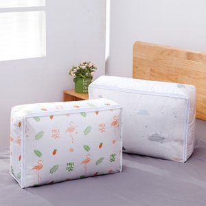 Colcha de almacenaje de la ropa del hogar dormitorio grande a prueba de humedad colcha polvo acabado bei zi bolsa de bolsa de almacenamiento dai