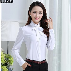 Women's Blouses & Shirts White For Girls Clothing Chiffon 2021 Spring Autumn Teenage Bottoming Clothes Students School Uniforms