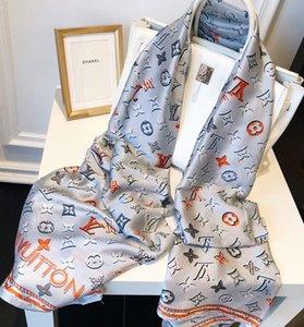 2020 Дизайнер шелк Длинный шарф для женщин Горячие Продажа Brand Letter Printed шарфы шали пашмины лето Большой Хиджаб Платки для дам 180x90cm