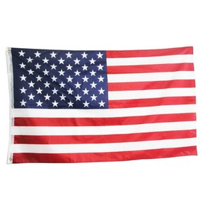 Direct factory 3x5Fts United States Stripes USA US American Flag 80D Polyester good material flags 2020