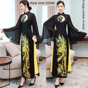 Verbesserte cheongsam Aodai Cheongsam Rock Abendkleid Vietnam authentisch lang elegantes Abendkleid der chinesischen Art 2020 Frühlings-neue wGUK8 wGUK