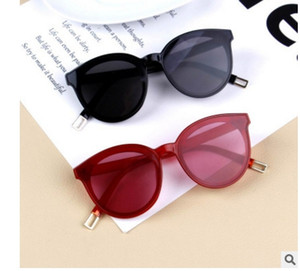 Cute Cat Sunglasses Girl boy Red blue Lens Sun glasses Fashion Light Weight Sunglass for Kids Vintage Metal Eyewea