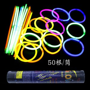 100pcs Fun toy Colorful LED Light Sticks Glow stick Party toy Concert neon lights Fans support props
