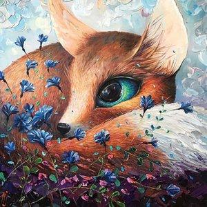Pittura diamante con Square Pietre animali Foto con strass New Diamond ricamo Picture perline Fox Beadwork