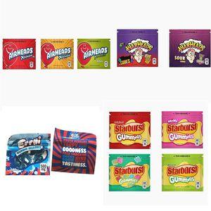 EMPTY 500мг STARBURST фонтанов / Airhead милар BAG 408MG WARHEAD ЗАСТЕЖКИ МЕШОК 400mg конфеты мешок упаковки HASHTAG Мед конфеты мешок Печенье