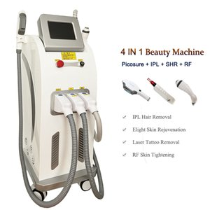 4 في 1 SHR IPL Pico Machine ND YAG LAZER إزالة الوشم Pico Second Dark Spot Tigment Descover جهاز Lazer