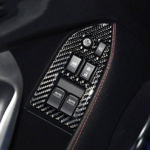 자동차 실내 탄소 섬유 창 리프트 버튼 장식 프레임 스바루 BRZ 도요타 (86) 자동차 스타일링에 대한 수정 트림 자동차 스티커