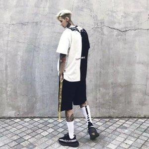 Estilo de la moda de manga corta cuello Homme Tees ropa ocasional pares ropa para hombre verano diseñador camisetas Bat Imprimir Crew