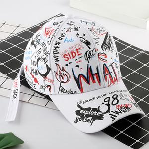 Gorra de béisbol 8styles pintada de la cola larga de hip-hop sombrero de moda al aire libre pintada casquillos del Snapback Hip Hop Partido Sombreros GGA3664-4