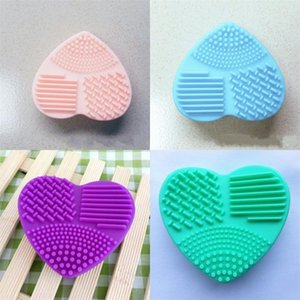 Silicone Makeup Brush Cleaner Heart Shaped Cleansings Brushs Beauty Cleaners Cleaning Tools Cute Practical Hot Sale 1 55hr E2