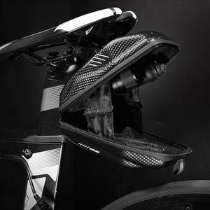MTB Fahrrad-Sattel-Beutel PU-EVA wasserdichte Rücksitzkissen Outdoor-Fahrradtasche Hecktasche 19.5x9x8cm Radfahren Accories