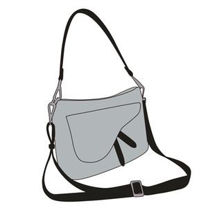 2020 nouvelle vente chaude D mot concepteur de sac de selle broderie rétro marque crossbody un portefeuille de sac à bagages de mode épaule
