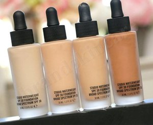 Top qualité Marque Maquillage studio Fondation Studio Waterweight Foundation SPF 30 liquide Correcteur NC15 NC20 NC30 NC40