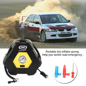 12V Car Electric Air Compressor Tire Inflator Pump Portable Tire Inflator Pump Air Compressor with Needle Indicator for Cars