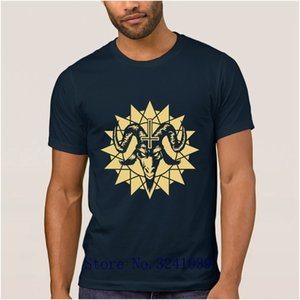 Anlarach new satanic goat head with chaos star inverted t shirt Spring Horror Death t-shirt Euro Size S-3xl regular tshirt