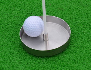 Golf Hole Cup Stainless steel hole cup with Flag Putting Flags Hole Cup Free Shipping