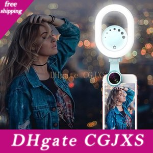 Led Selfie Ring Light Beauty Live Stream Enhancing Lamp With Wide Angle  Macro Phone Camera Lens For Mobile Phone