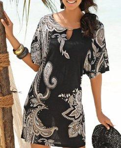 QlmdJ 2020 Beach seaside holiday Group printed skirt 2020 Beach seaside holiday ethnic Ethnic Group printed skirt