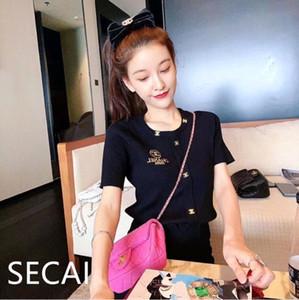 Breve maglia giacca 2020 nuova estate piccola fragranza ricamo versatile Ins moderna manica corta T-shirt versatile donne