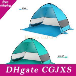 Oudoor antivento automatico Pop Up tenda impermeabile Ultralight tenda da campeggio Canopy Sun Shelter Per Beach Camping Pesca Trekking