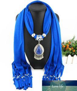goutte de résine écharpe charme collier pendentif de Luxuriant foulards pendentif mode dame