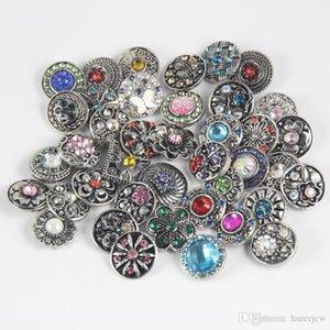Bijoux Boutons pression strass 18mm Bracelet pression Colliers Boucles d'oreilles
