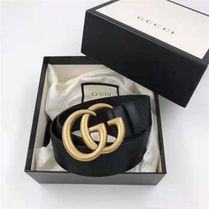 2020 di moda gg con cinture Gucci in pelle di dialogo per gli uomini donna donne grande fibbia in oro nastro superiore della cinghia mens serpente G trasporto libero all'ingrosso