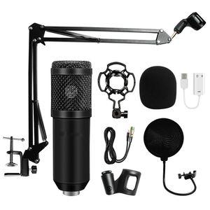 Profesyonel BM 800 Kondenser Mikrofon 3.5mm Kablolu Karaoke BM800 Kayıt Mikrofonu Bilgisayar Karaoke KTV