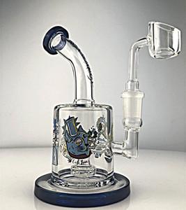 Rick verre d'eau en verre Bongs Smoking Pipes eau bouchon de carburateur tuyau de brûleur à huile en verre chicha narguilés avec 14mm Banger