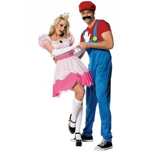 custo rainha Europeia roupas rosa Biqi Mario traje role-playing game uniforme serviço Princess Princess serviço da rainha roupas da princesa